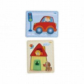 Haba Haba 300529 Houten puzzels Huis + Auto