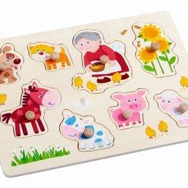 Haba Haba 303183 Knoppuzzel oma Linda's dieren