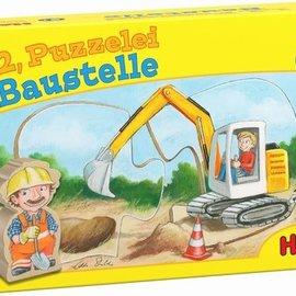 Haba Haba 303307 1.2. puzzel mee - Bouwterrein