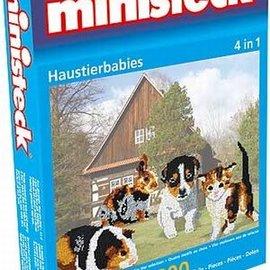 Ministeck Ministeck Huisdierbabies. 4in1. ca. 1.800 stukjes