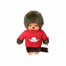 Monchhichi MONCHHICHI 20 cm Jongen met T-shirt Rood