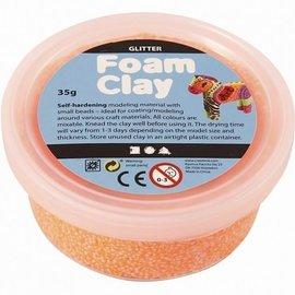 Foam Clay Foam klei Glitter oranje 35 gram