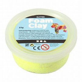 Foam Clay Foam klei Glitter geel 35 gram