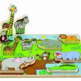 Hape Hape Staande puzzel wilde dieren