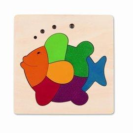 Hape Hape Houten puzzel regenboogvis