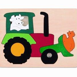 Hape Hape Houten puzzel tractor