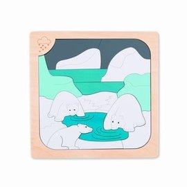 Hape Hape Houten puzzel ijs en ijskoud