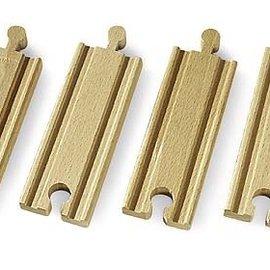 Brio Brio 1/2 rechte rails (4x)
