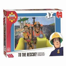 Jumbo Brandweerman Sam - We schieten te hulp! (35 stukjes)