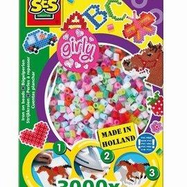 SES Strijkkralen kleuren assorti Girly 3000 x