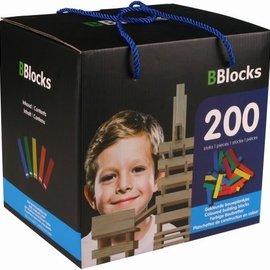 Bblocks Bblocks 200 stuks gekleurd in kartonnen doos