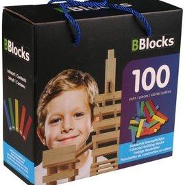 Bblocks 100 stuks gekleurd in kartonnen doos