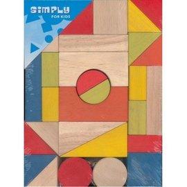 Simply for kids Houten blokken set gekleurd