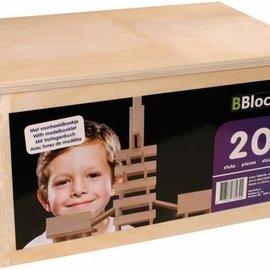 Bblocks 200 stuks in houten kist
