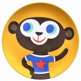 Petit Monkey Petit Monkey Plastic bord Aap geel