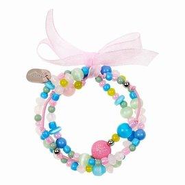 Souza Armband Milou. 3 strengen. pastel/blauw/roze