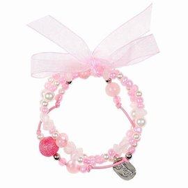 Souza Armband Milou. 3 strengen. licht roze