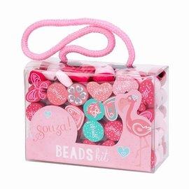 Souza Kralen activity kit. roze-fuchsia-mint