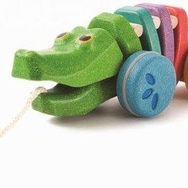 Plan Toys Dansende alligator regenboog