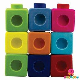 Rubbabu Bouwblokken (9 blokken en 4 connectoren)