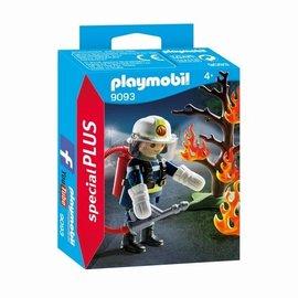 Playmobil Playmobil - Brandweerman met Brandende Boom (9093)