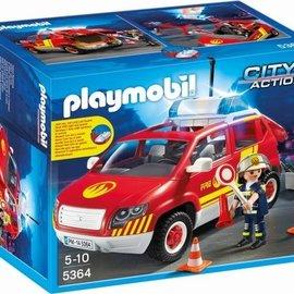 Playmobil Playmobil - Brandweercommandant met dienstwagen (5364)