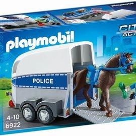 Playmobil Playmobil - Politie met paard en trailer (6922)