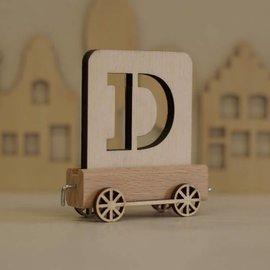 Houten Lettertrein Letter D