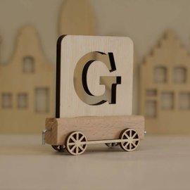 Houten Lettertrein Letter G