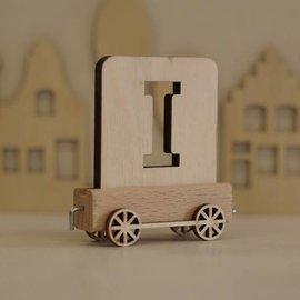 Houten Lettertrein Letter I