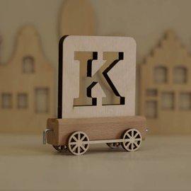 Houten Lettertrein Letter K