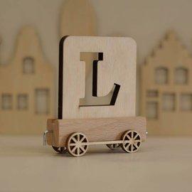 Houten Lettertrein Letter L