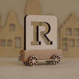 Houten Lettertrein Letter R