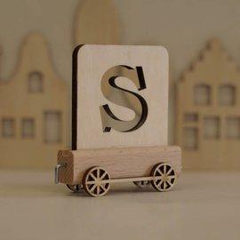 Houtlokaal Houten Lettertrein Letter S
