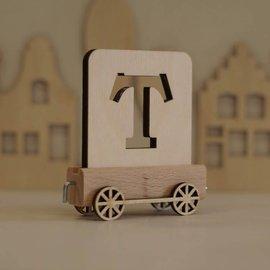 Houten Lettertrein Letter T