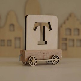 Houtlokaal Houten Lettertrein Letter T