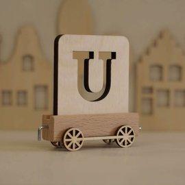 Houten Lettertrein Letter U