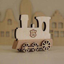 Houten Lettertrein Locomotief