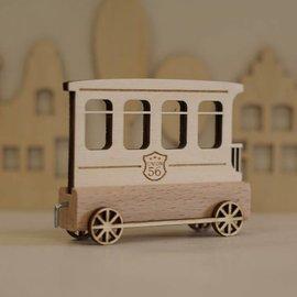 Houten Lettertrein Wagon