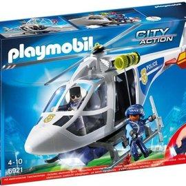 Playmobil Playmobil - Politiehelikopter met LED-zoeklicht (6921)