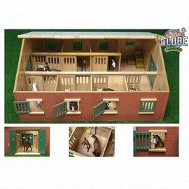 Kids globe Kids Globe Paardenstal hout  met 7 boxen voor paarden