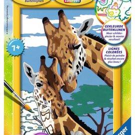 Ravensburger Schilderen op nummer- Giraffen