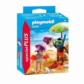 Playmobil Playmobil - Kinderen met zandkasteel (9085)