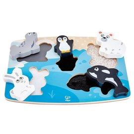 Hape Hape Houten puzzel Polar Animal Tactile