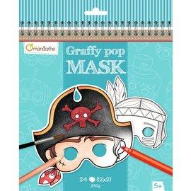 Mandarine Mandarine Graffy Pop Jongensmaskers