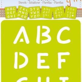 Mandarine Mandarine Set van 6 sjablonen - Alfabet