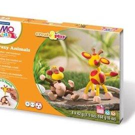 Staedtler Staedtler Fimo kids Klei set Create&Play aap en giraf