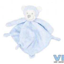 Very Important Baby Very Important Baby - Pluche knuffeldoekje apenhoofd (blauw)