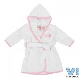 Very Important Baby Very important baby - Badjas wit / roze
