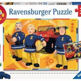 Ravensburger Brandweerman Sam  Ravensburger Puzzel: Sam aan het Werk 2x12
